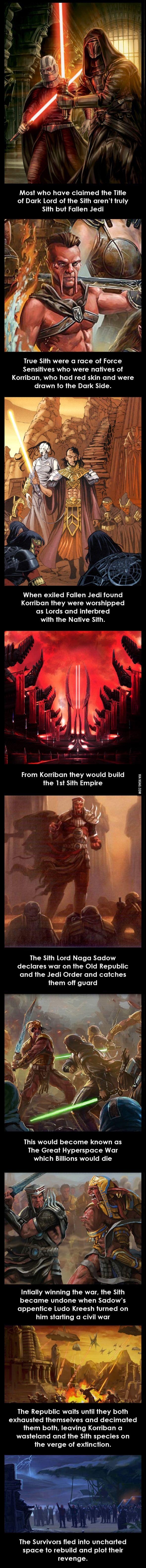 El origen de los Sith (Pre-Disney)