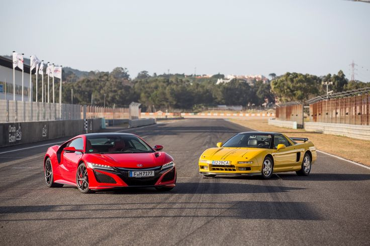 Honda NSX, first generation 1990-2005. Compared to 2017 second gen NSX.