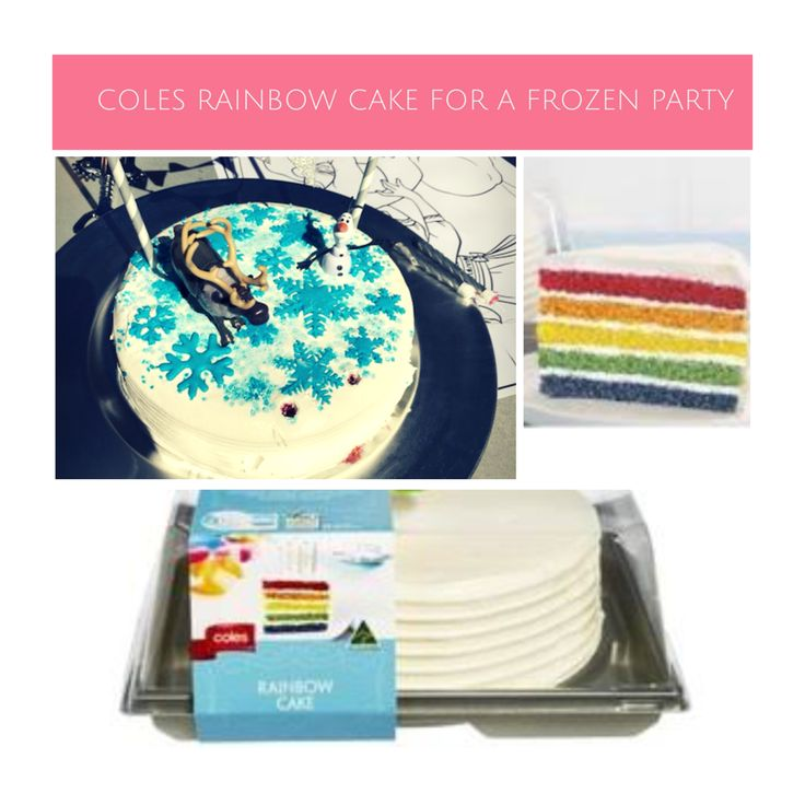 Coles Rainbow Cake Used For Frozen Party Disney Frozen