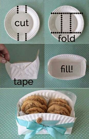 Paper plate into a box