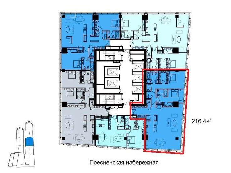 Продам трехкомнатную квартиру   Пресненская набережная д.8с1, Москва   база  ЦИАН, объявление