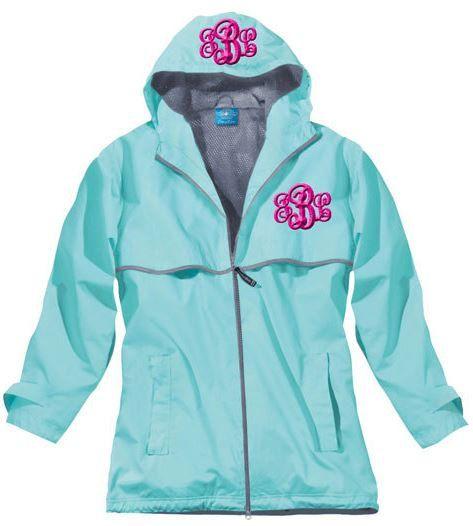 Monogrammed Ladies Rain Jacket/ Personalized Jacket