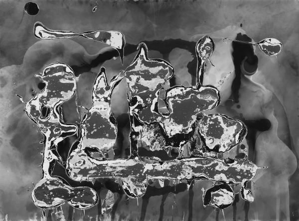 Chargesheimer [d.i. Karl-Heinz Hargesheimer] Köln 1924 - 1971. Untitled (Gelatin silver painting). 1948/49 or 1961.