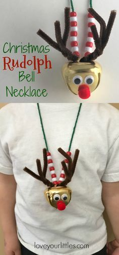 A festive Christmas craft for kids that celebrates Rudolph the red nosed reindeer! Children of all ages can do this fun and easy craft. Kids will enjoy wearing it all season long! #kidcrafts #craftsforkids #christmascrafts #creativekids