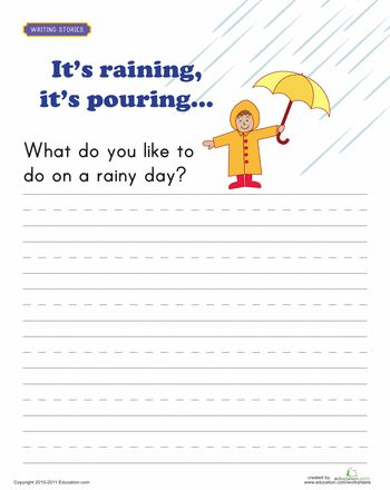 writing prompt rainy day spring 1st grade writing and writing practice. Black Bedroom Furniture Sets. Home Design Ideas
