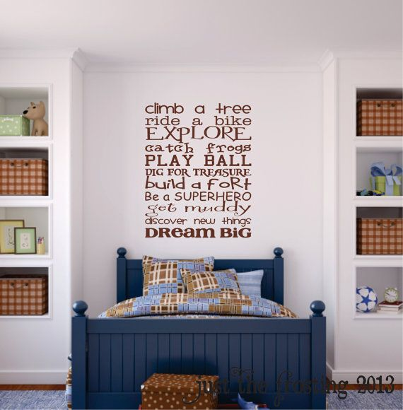 Boys Bedroom Wall Decal, Childrens Playroom Wall Art