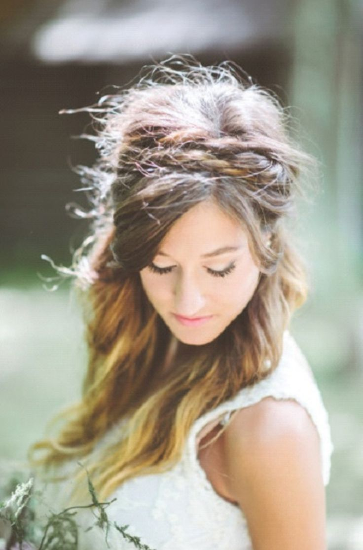1000 Ideas About Coiffure Mariage Cheveux Lachs On Pinterest