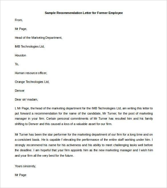 Sample of Testimonial Letter