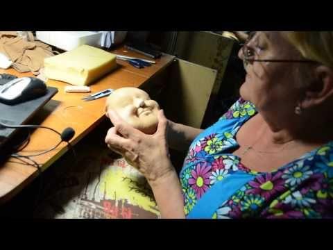 мастер класс по изготовлению скульптурной -текстильной куклы ч.9 - YouTube