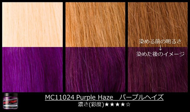 Manic Panic Purple Haze on different shades of blonde