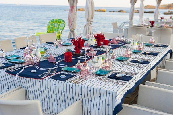 Στολισμός γάμου, στολισμός τραπέζι γάμου με θέμα θάλασσα
