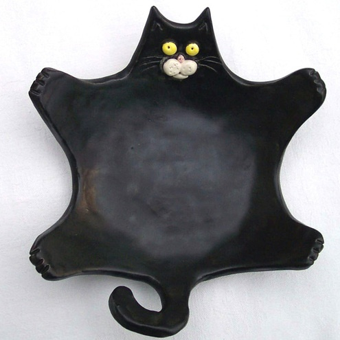 Black Cat Soap/Trinket Dish