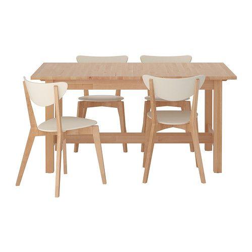 IKEA - NORDEN / NORDMYRA, Tafel en 4 stoelen