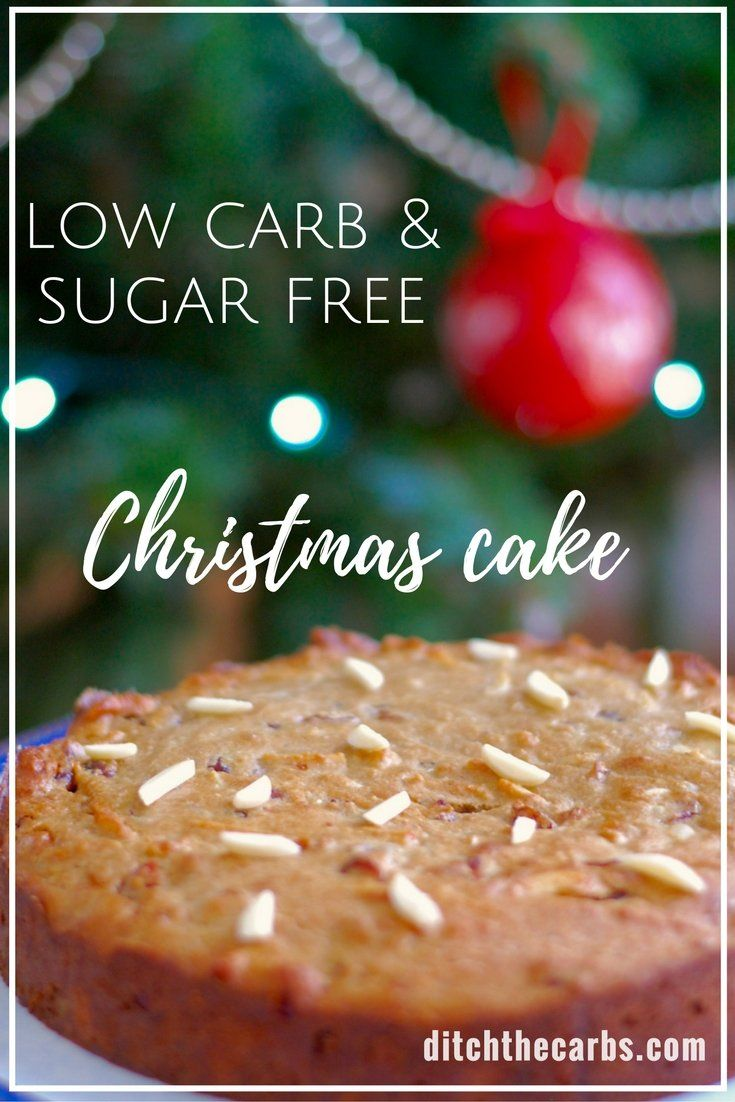 Easy low carb Christmas cake - even my children can make this one! Tastes just like the real thing, only low carb. Sugar free, grain free, gluten free. | ditchthecarbs.com