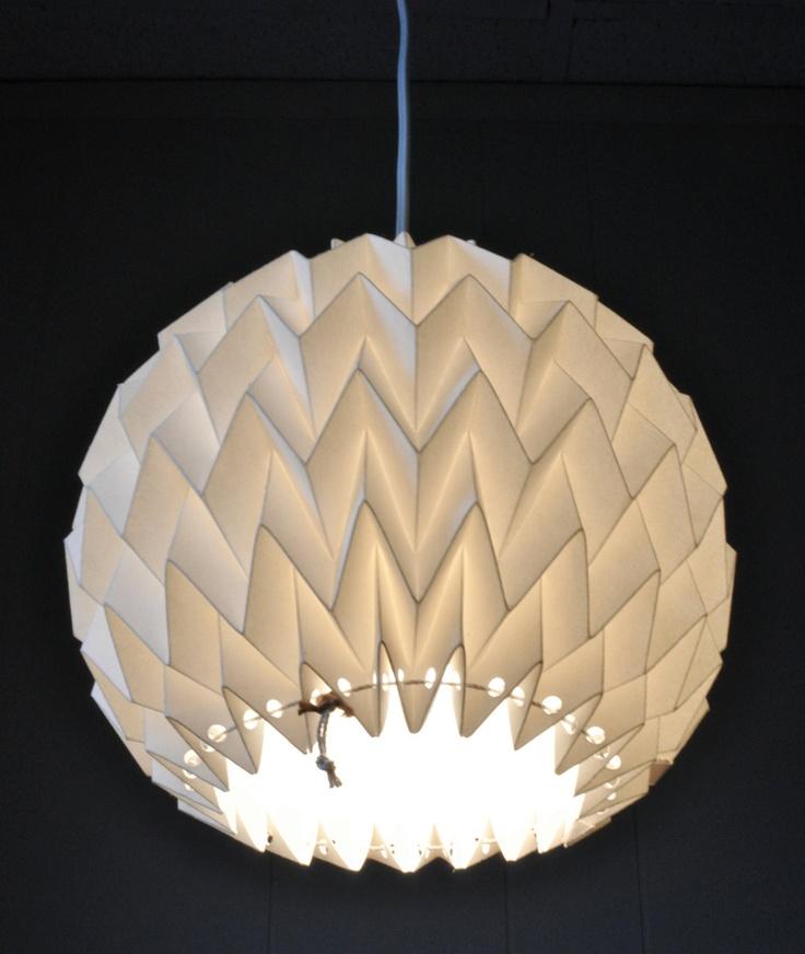 "Origami Paper Lamp Shade / Lantern ""Bubble"" - WHITE"