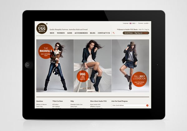 Jumbo UGG. Website Design by Higher , via Behance