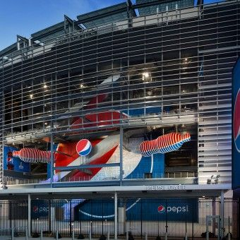 Pepsi MetLife Stadium Exhibition by  PepsiCo Design  amp  Innovation  Pentagram