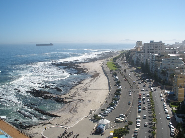 Sea Point beach front, Cape Town South Africa