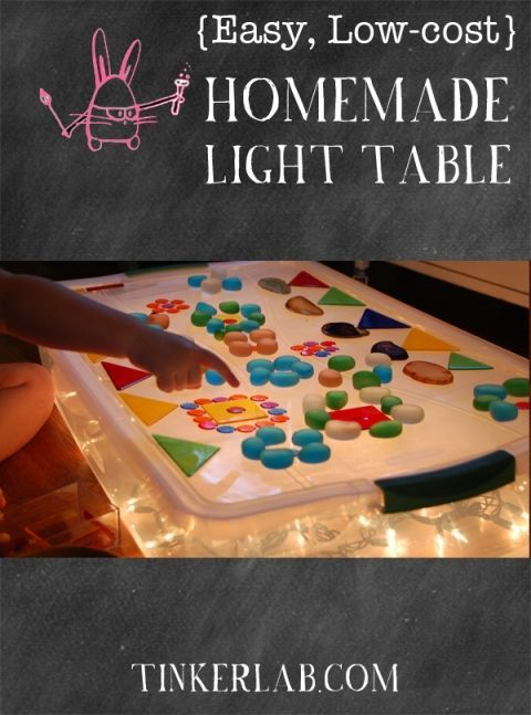 Homemade {Easy, Low-cost} Light Table in 2018 Daycare Business - daycare resume