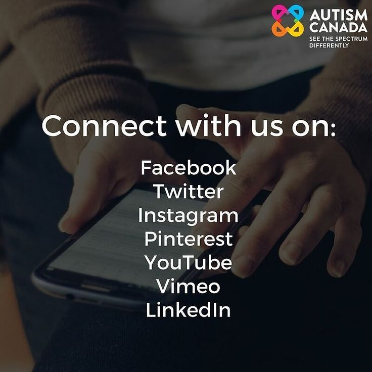 Join our growing audience on our social media. Find us at @autismcanada on all platforms.