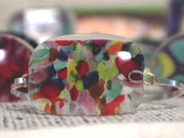 How to Make a Confetti Fused-Glass Cuff Bracelet
