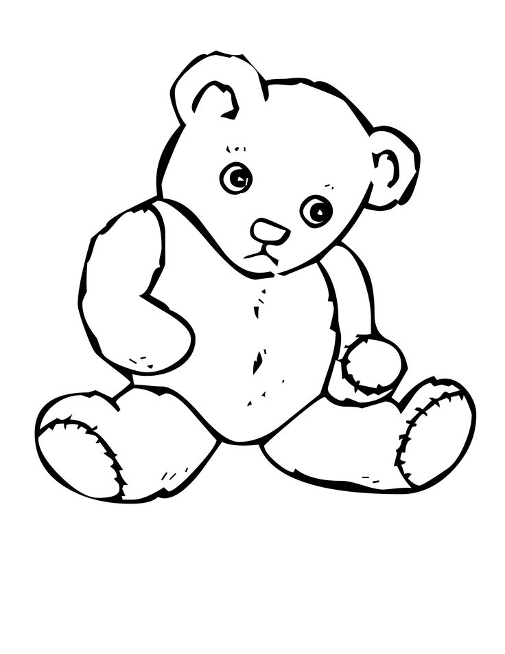 Coloring Elegant Teddy Bear Pages In Line Drawings With On Of Bears Colori 13