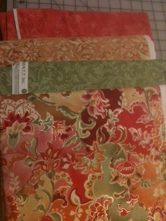 Fabric chosen by the Quilted Sisters