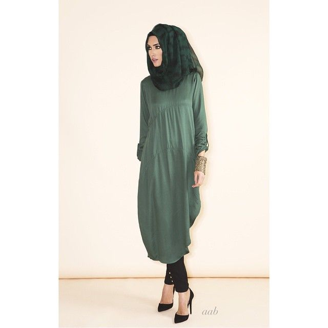 Dress for the evening in Side Slit Kurti Emerald Green Pair with Neem Bark Hijab & 4 Button Trousers Finish your look with our statement Beaded Cuff www.aabcollection.com   #aablondon #aabcollection #Aabflagshipstore #Aabx1250giveaway #spring #aabnewarrivals #fashionmodesty #themodestymovement