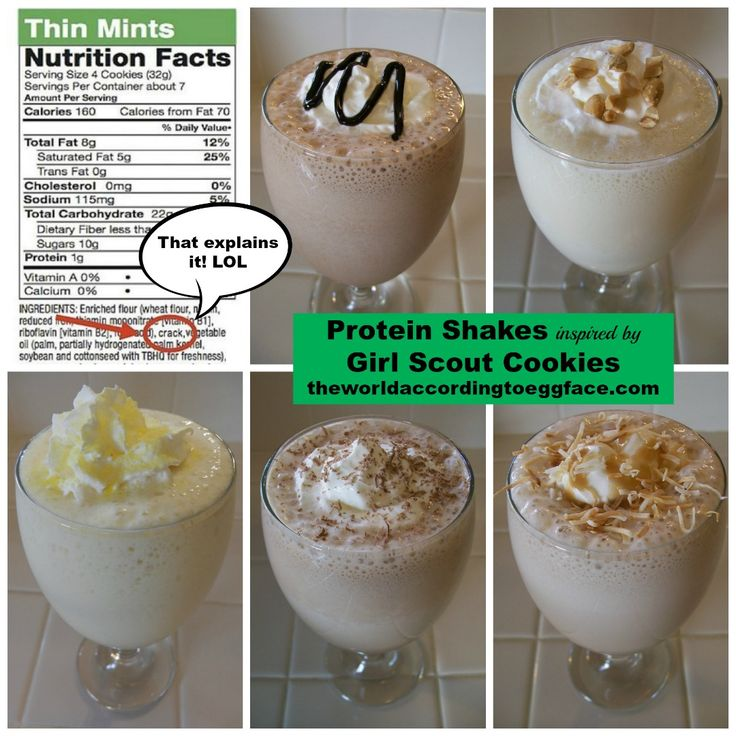 Protein Shakes Inspired By Girl Scout Cookies For My Health Fitness Workout Weight Loss Bariatric Surgery