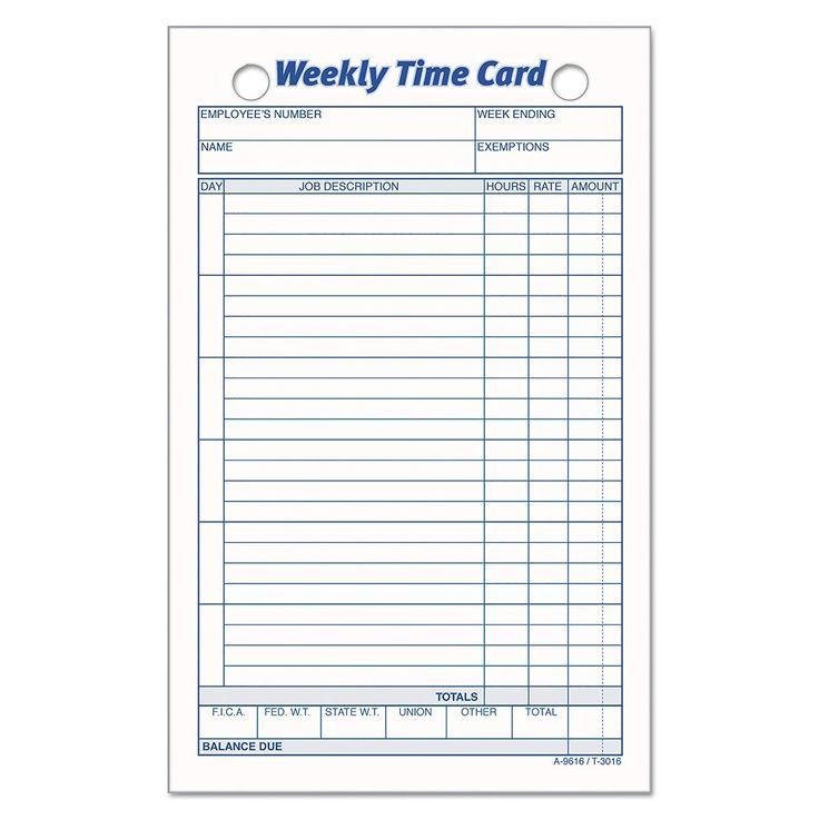 Unique Weekly Time Card xls xlsformat xlstemplates