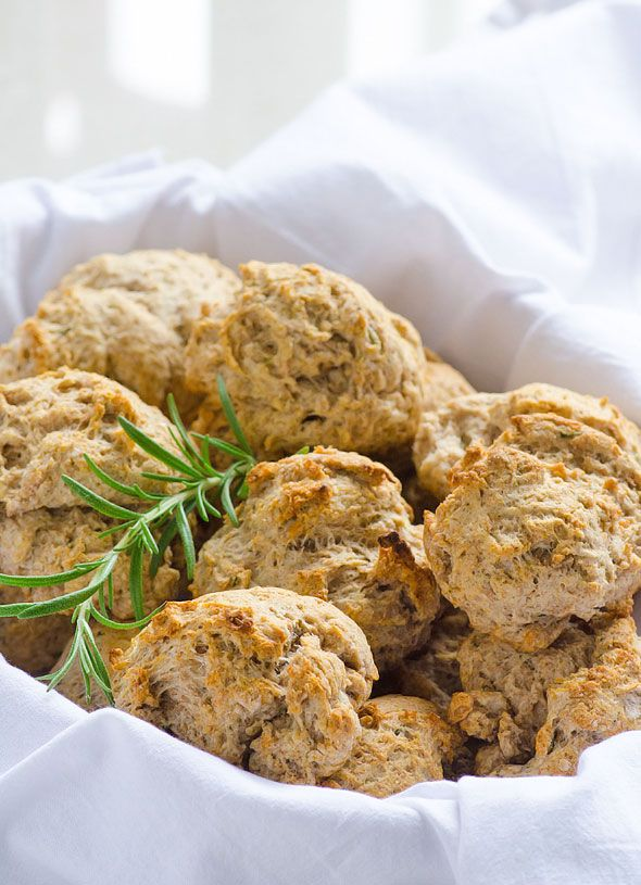 Whole Wheat Drop Biscuits -- Vegan recipe easy enough to make even for a novice cook. Nutritious and delicious too.