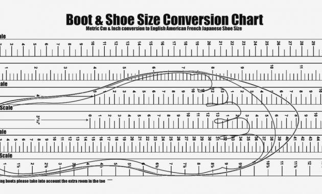 Precise Payless Printable Shoe Size