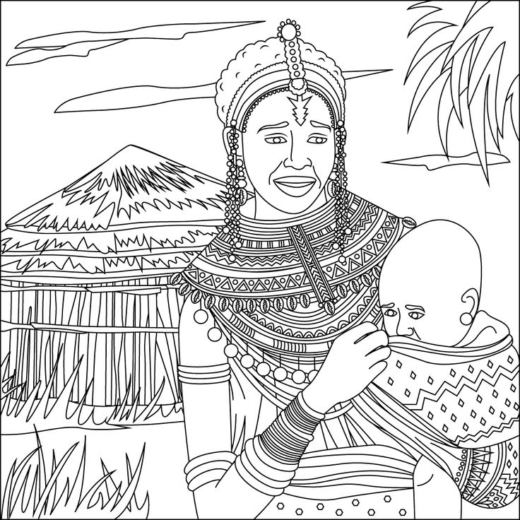 Coloring Book African Culture. Download the app from here:  Google Play Store: https://play.google.com/store/apps/details?id=com.StressReliefColoringforAdults.app Apple App Store: https://itunes.apple.com/us/app/stress-relief-coloring-for/id1091576498 Amazon App Store: https://www.amazon.com/Stress-Relief-Adult-Color-Book/dp/B01DAC03O2/