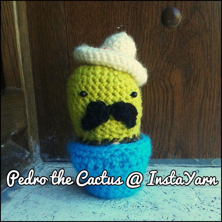 I suoi baffoni sono noti in tutto il Messico!  His moustaches are noun all over Mexico!  #amigurumi # crochet # instayarn #cute #handmade #cactus