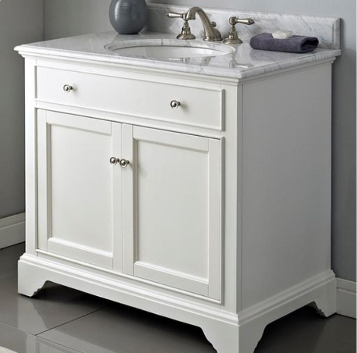 Fairmont Designs Framingham To Bathroom Vanity   Polar White / White  Carrera Marble Part 89
