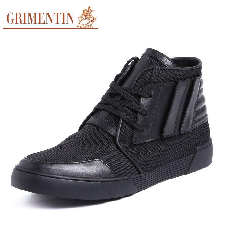 GRIMENTIN повседневная ботильоны удобные черный зашнуровать ежедневные бизнес делопроизводство мужчины сапоги мужчин обувь hightop обувь SH62(China (Mainland))