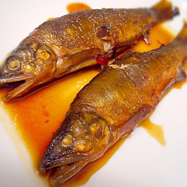 いつも野菜をもらうおっちゃんが釣ってきたので(●´ω`●) - 78件のもぐもぐ - 鮎の甘露煮 by だいち