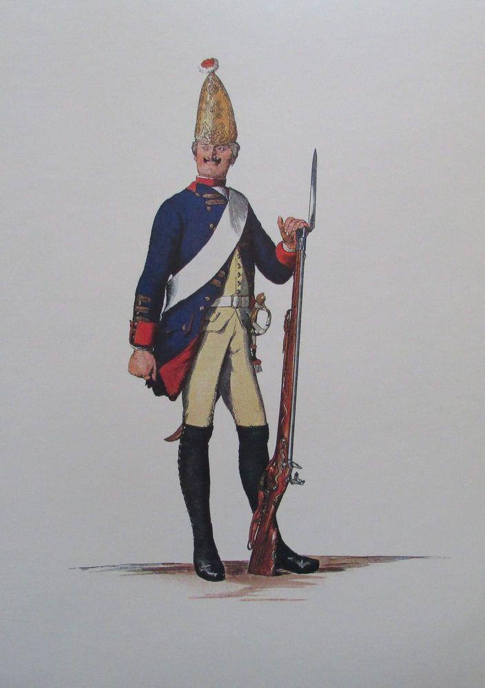 Grenadier Bataillon Grenadier-Garde von Retzow - 24x34 Faksimile 70er Uniform