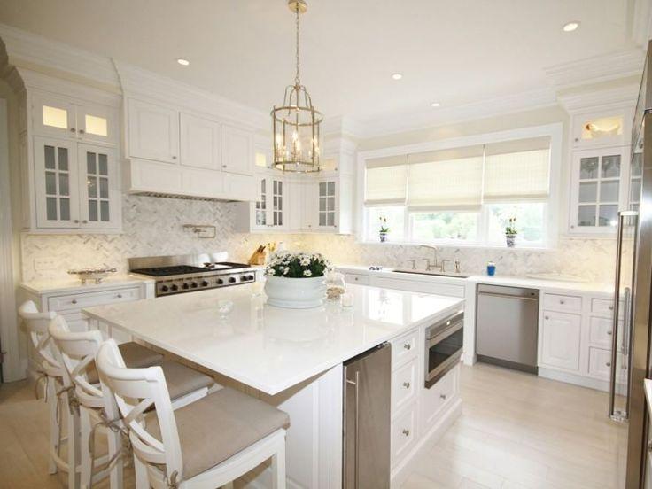 La #cucina in bianco, della casa in affitto di #LeonardoDiCaprio