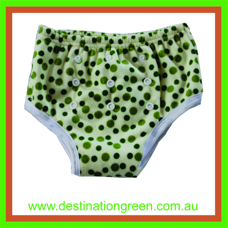 Reusable Training Pants - green spots, $8.50
