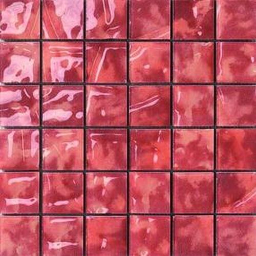 #Settecento #Musiva Rosso Corallo 4,5x4,5 on grid 28,6x28,6 cm 100455   #Glas on ceramic   on #bathroom39.com at 196 Euro/sqm   #mosaic #bathroom #kitchen