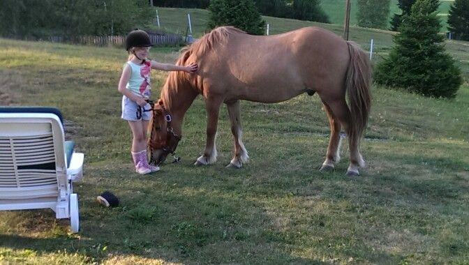 En lycklig hästtjej!