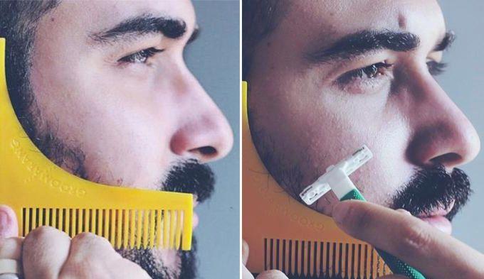 Le pochoir à barbe ou traceur de contours, un outil ingénieux pour barbus