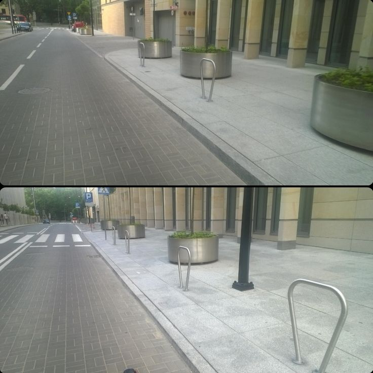 Podczas ubiegłej masy krytycznej zauważyłem na ul. Grottgera 6 stojaków robiących za słupki blokujące wjazd :) #rower #lublin #centrumspotkaniakultur