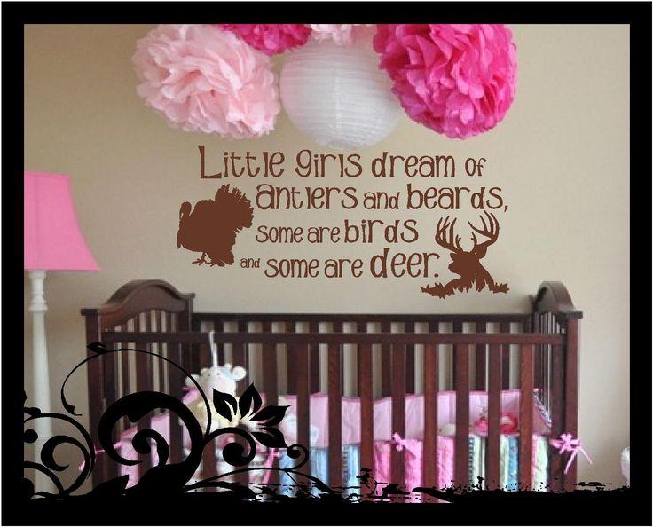 Little Boys Girls Dream Antlers And Beards Vinyl Decal Etsy In 2021 Baby Girl Nursery Room Stuff Country Nurseries