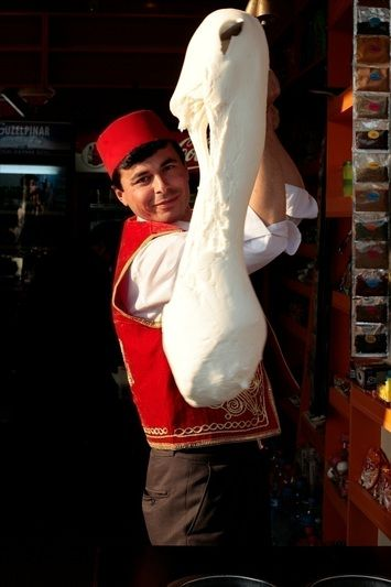 Dondurma - A guy serving dondurma, Istanbul. *Dondurma is the name given to ice cream in Turkey.