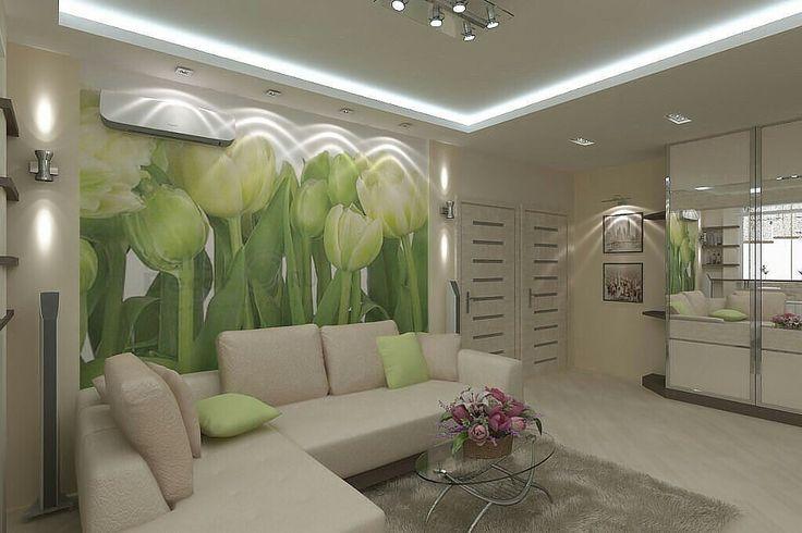 фотообои тюльпаны зеленые на кухне много чужих