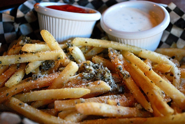 Greek Fries from Chicago Fire, Sacramento - these look scrumptious!