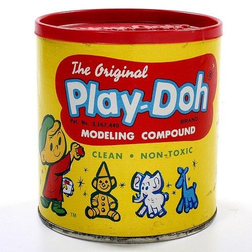 PLAY-DOH: 1967 Modeling Compound #Vintage #Toys.....liked the homemade dough better