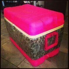 Hot pink camo cooler❤️